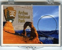 "Marcus 2"" x 3"" Snap Lock Holder 2014 Arches National Park - Without Coin"