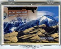 "Marcus 2"" x 3"" Snap Lock Holder 2014 Great Sand Dunes National Park - Without Coin"