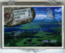 "Marcus 2"" x 3"" Snap Lock Holder 2014 Everglades National Park - Without Coin"