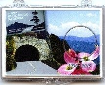 "Marcus 2"" x 3"" Snap Lock Holder 2015 Blue Ridge Parkway - Without Coin"