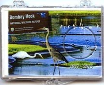 "Marcus 2"" x 3"" Snap Lock Holder 2015 Bombay Hook National Wildlife Refuge - Without Coin"