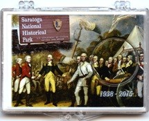 "Marcus 2"" x 3"" Snap Lock Holder 2015 Saratoga National Historical Park - Without Coin"