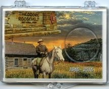 "Marcus 2"" x 3"" Snap Lock Holder 2016 Theodore Roosevelt National Park - Without Coin"