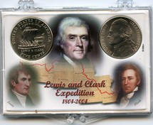 "Marcus 2"" x 3"" Snap Lock Coin Holder Lewis & Clark Expedition Two Coin Holder"