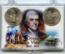 "Marcus 2"" x 3"" Snap Lock Coin Holder Ocean In View Two Coin Holder"