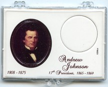 "Marcus 2"" x 3"" Snap Lock Coin Holder Presidential Dollar - Andrew Johnson"