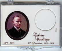 "Marcus 2"" x 3"" Snap Lock Coin Holder Presidential Dollar - Calvin Coolidge"