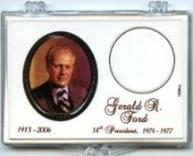 "Marcus 2"" x 3"" Snap Lock Coin Holder Presidential Dollar - Gerald R. Ford"