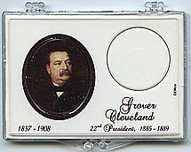 "Marcus 2"" x 3"" Snap Lock Coin Holder Presidential Dollar - Grover Cleveland 22nd."