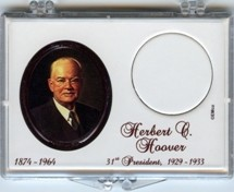 "Marcus 2"" x 3"" Snap Lock Coin Holder Presidential Dollar - Herbert Hoover"