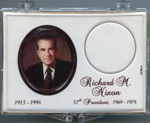 "Marcus 2"" x 3"" Snap Lock Coin Holder Presidential Dollar - Richard M. Nixon"