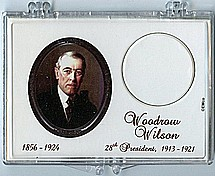 "Marcus 2"" x 3"" Snap Lock Coin Holder Presidential Dollar - Woodrow Wilson"