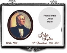 "Marcus 2"" x 3"" Snap Lock Coin Holder Presidential Dollar - John Tyler"