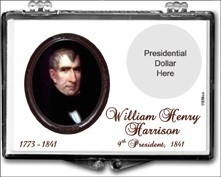 "Marcus 2"" x 3"" Snap Lock Coin Holder Presidential Dollar - William Henry Harrison"