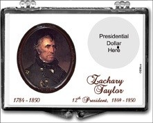 "Marcus 2"" x 3"" Snap Lock Coin Holder Presidential Dollar - Zachary Taylor"