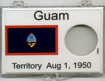 "Marcus 2"" x 3"" Snap Lock Coin Holder Guam Statehood 25c - Without Coin"