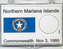 "Marcus 2"" x 3"" Snap Lock Coin Holder Northern Mariana Islands Statehood 25c - Without Coin"