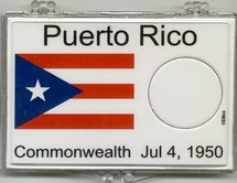 "Marcus 2"" x 3"" Snap Lock Coin Holder Puerto Rico Statehood 25c - Without Coin"