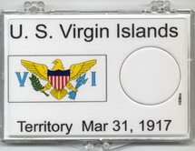"Marcus 2"" x 3"" Snap Lock Coin Holder U.S. Virgin Islands Statehood 25c - Without Coin"