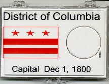"Marcus 2"" x 3"" Snap Lock Coin Holder District of Columbia Statehood 25c - Without Coin"