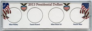 Marcus 4 Coin 2013 Presidential Dollar Coin Holder