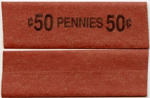 Flat Coin Wrappers - CENT - 50c  - Box 1,000