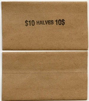 Flat Coin Wrappers - HALF DOLLAR - $10.00 - BOX 1,000