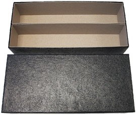 "10"" Double Row Cardboard Vault Box For 2"" x 2"" Coin Holders - Black"