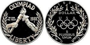 1988-S Olympic  Silver Dollar Proof