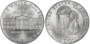 1992-D White House Silver Dollar Uncirculated