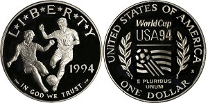 1994-S World Cup Silver Dollar Proof