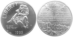 1995-P Civil War Battlefields  Silver Dollar Uncirculated