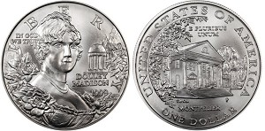 1999-P Dolley Madison Silver Dollar Uncirculated