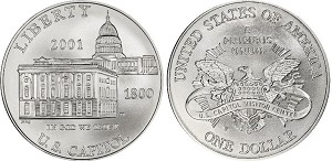 2001-P Capitol Visitors Center Silver Dollar Uncirculated