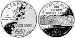 2002-P Olympic Winter Games Silver Dollar Proof
