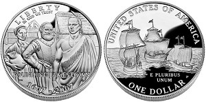 2007-P Jamestown 400th Anniversary Silver Dollar Proof