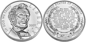 2009-P Abraham Lincoln Silver Dollar Uncirculated