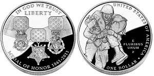 2011-P Medal of Honor Silver Dollar Proof
