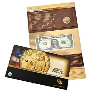 2014 Native American $1 Coin and Currency Set OGP Comes With Enhanced Sacagawea.