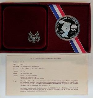 1983-S Olympic Silver Dollar Proof