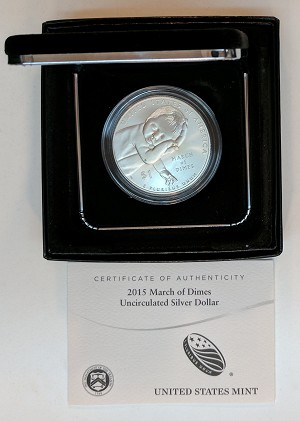 2015-P March of Dimes Silver Dollar Uncirculated