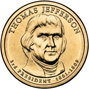 2007-D Thomas Jefferson Dollar Uncirculated