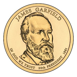 2011-P James A. Garfield Dollar Uncirculated