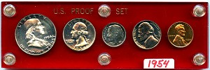 1954 Proof Set - In Capital Plastic Holder