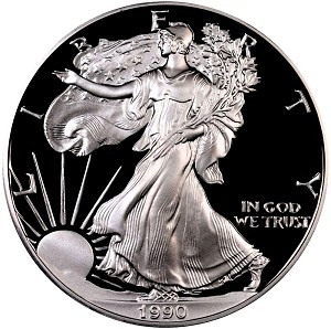 1990-S Silver American Eagle - Proof