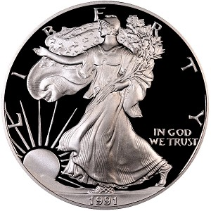1991-S Silver American Eagle Proof
