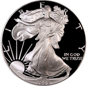 1992-S Silver American Eagle - Proof