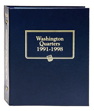 Whitman Classic Washington Quarter Coin Album 1991 - 1998