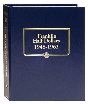 Whitman Classic Franklin Half Dollar Coin Album 1848 to 1963