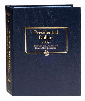 Whitman Classic Presidential Dollar Deluxe Coin Album For Both The Philadelphia and Denver Issues